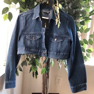Crop top denim jacket